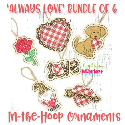 Valentine Ornament Bundle Embroidery Designs