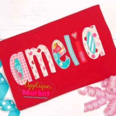 Whimsey Block Applique Zig Zag Alphabet