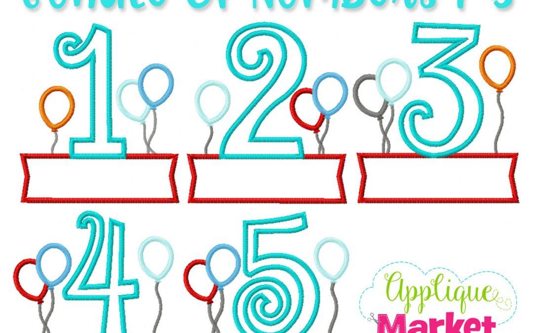 Birthday Number Balloons Name Box Bundle