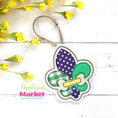 In the Hoop Mardi Gras Fleur de lis Ornament