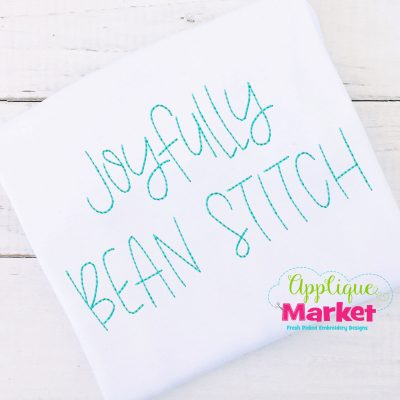 Joyfully Bean Stitch Embroidery Font