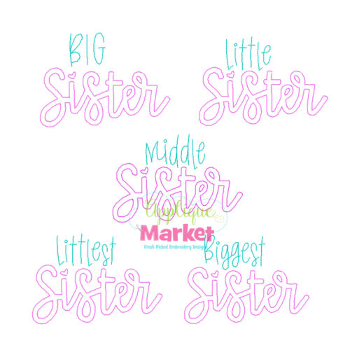 Sister Applique Bean Stitch Set