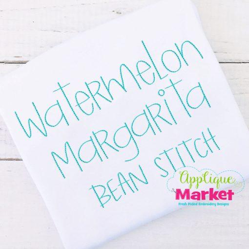 Watermelon Margarita Bean Stitch Font