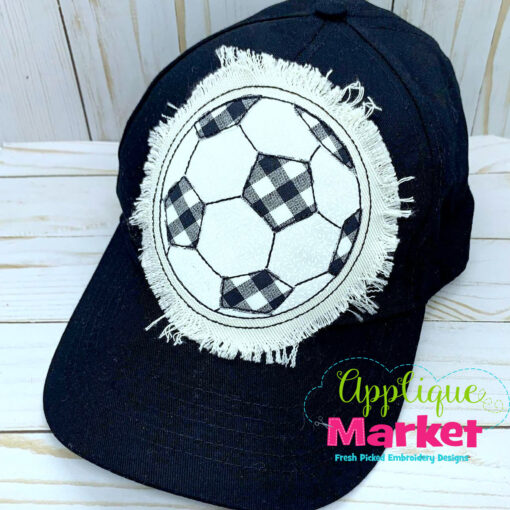 Soccer Ball Applique Hat Patch