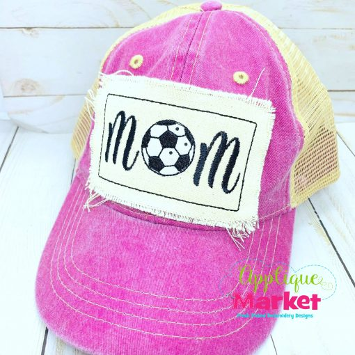 Soccer Mom Embroidery Applique Hat Patch Design