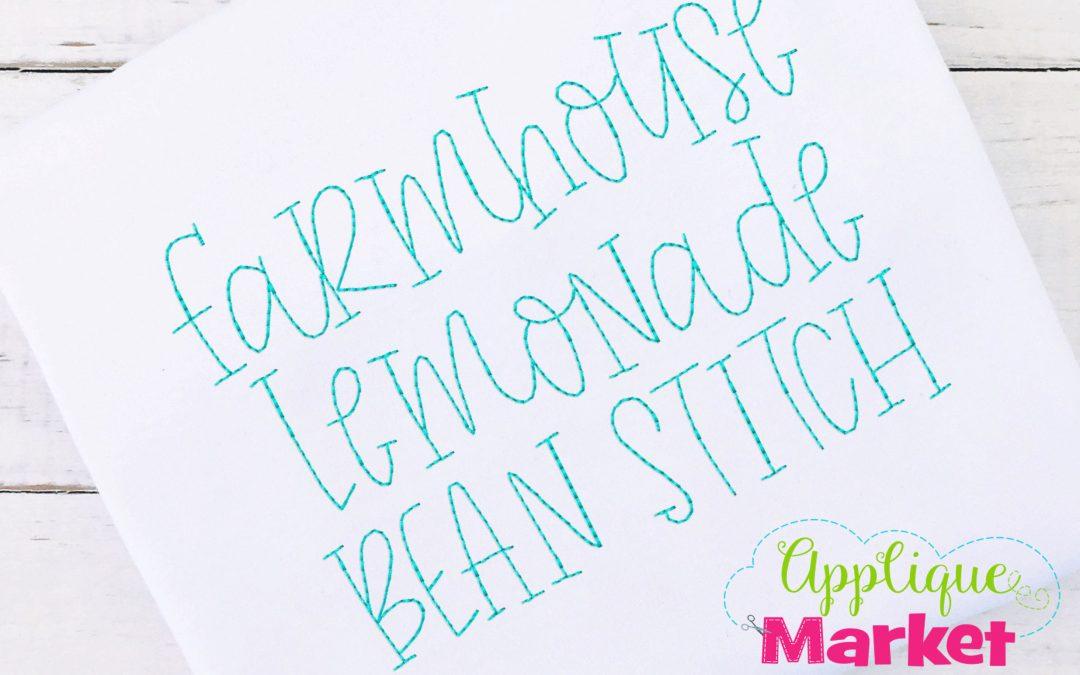 Farmhouse Lemonade Vintage Bean Alphabet