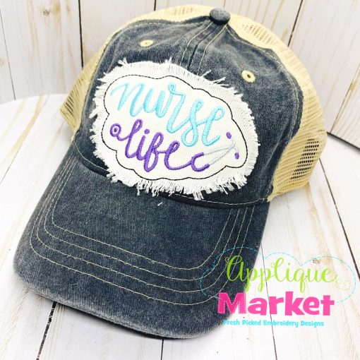 Nurse Life Applique In the Hoop Hat Patch