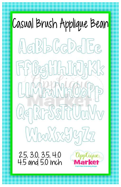App Market Font Printable Casual Brush Bean