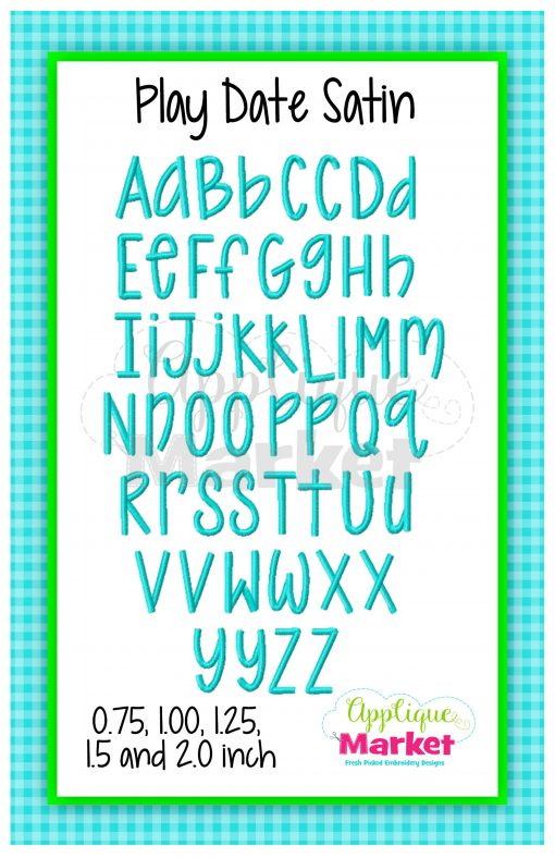 App Market Font Printable Play Date Satin