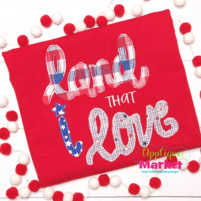 Land I Love Applique Bean Stitch