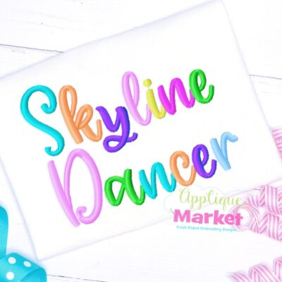 Skyline Dancer Embroidery Font