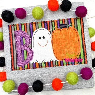 Boo Ghost Bean Applique