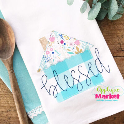 Home Blessed Bean Stitch Towel